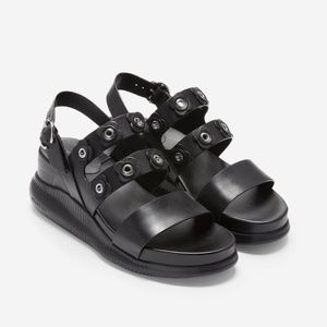 Cole Haan Zerogrand Criss Cross Flower Sandals 7.5